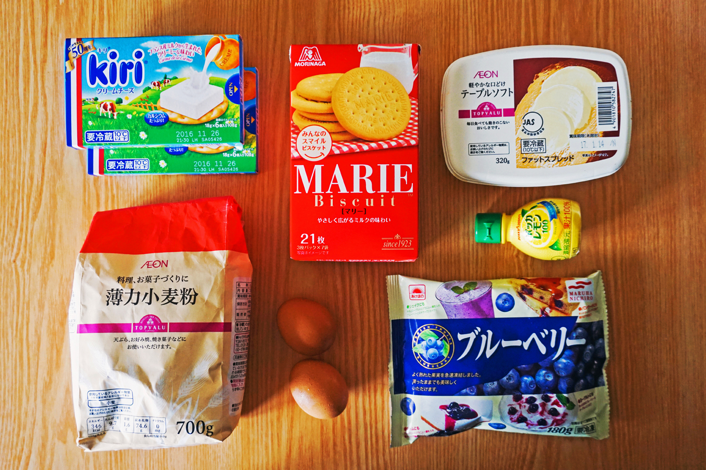 Blueberry cheese cake rice cooker ingredients