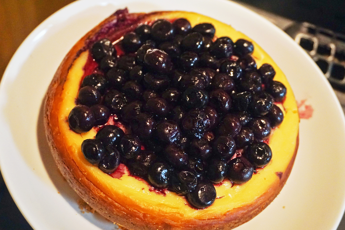 Blueberry cheese cake rice cooker