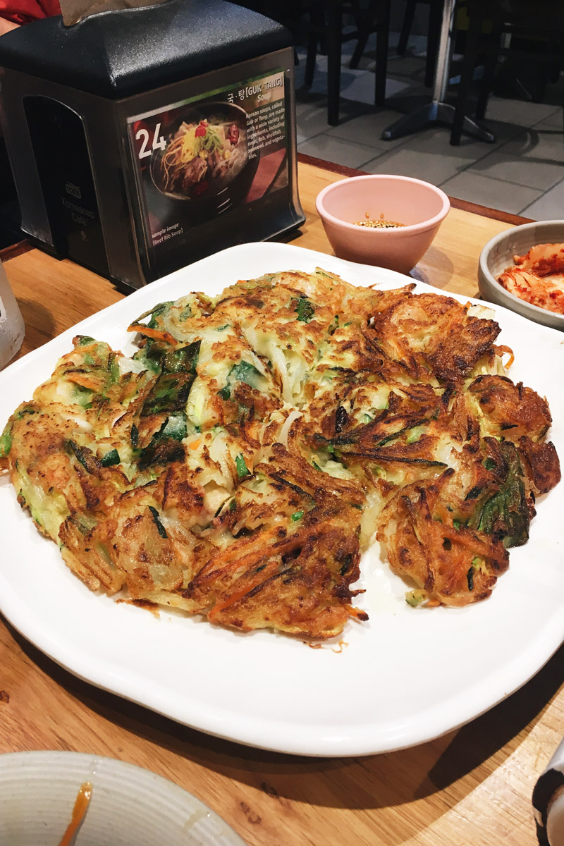 ICG Korean fried chicken seafood pancake Sydney