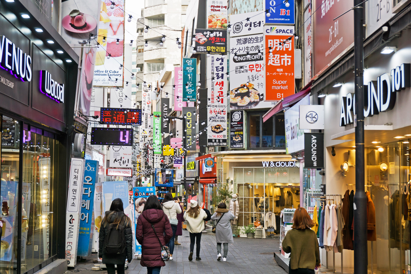 Myeongdong Shopping District Seoul