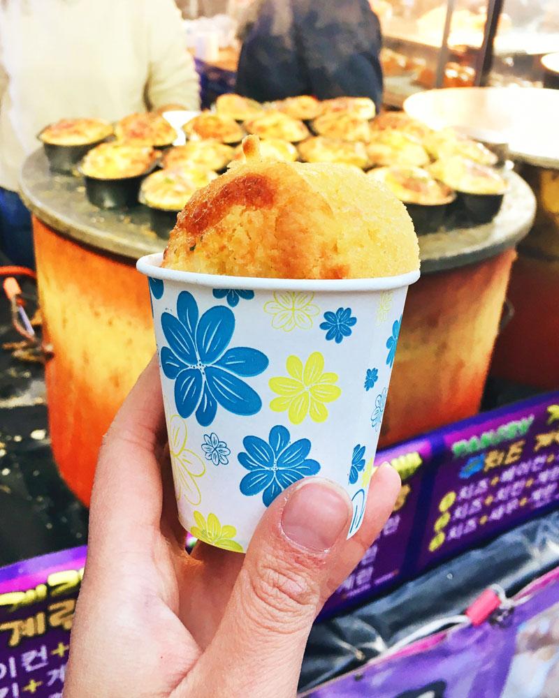 Korea street food egg bread