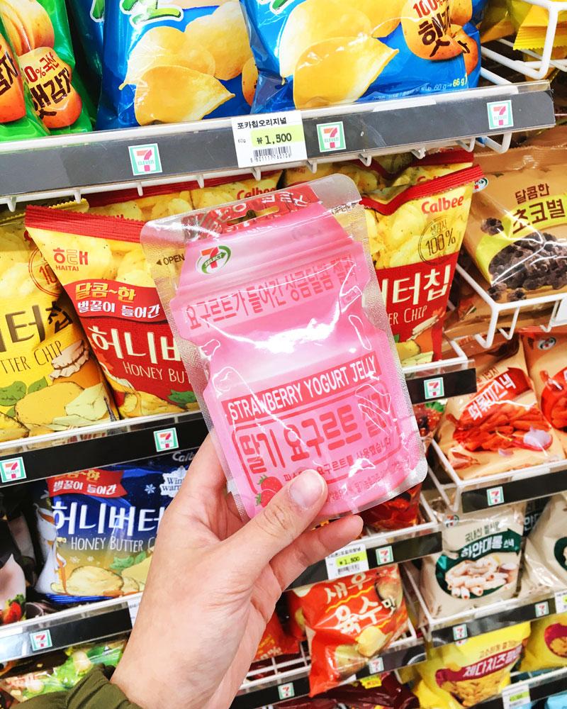 Korea convenience store yakult jelly