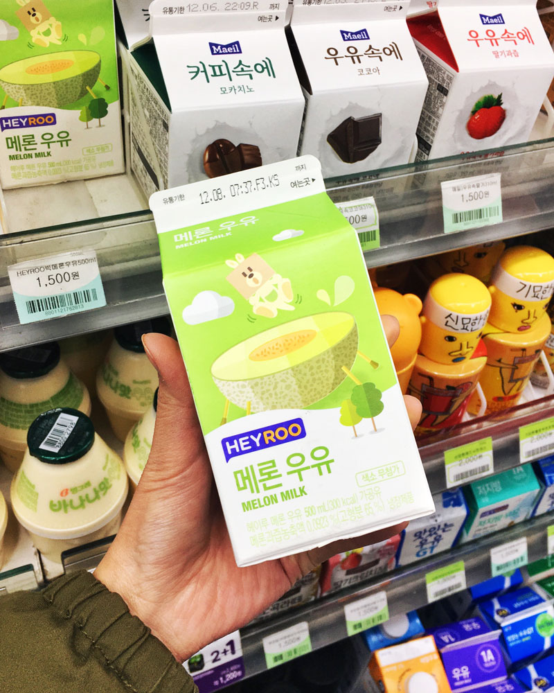 Korea melon milk convenience store