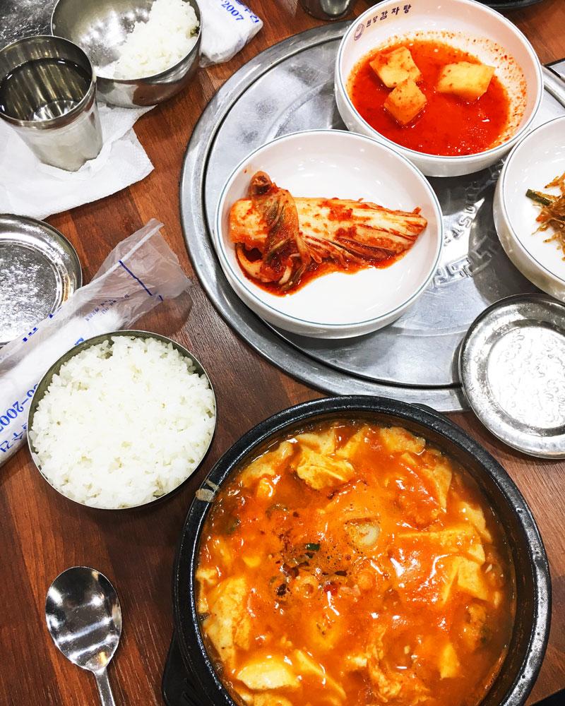What to eat in Korea soondubu jiggae