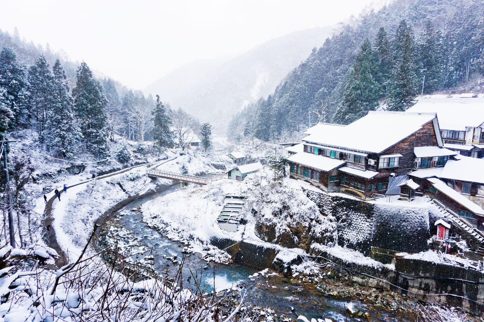 Japan Nagano snow mountains