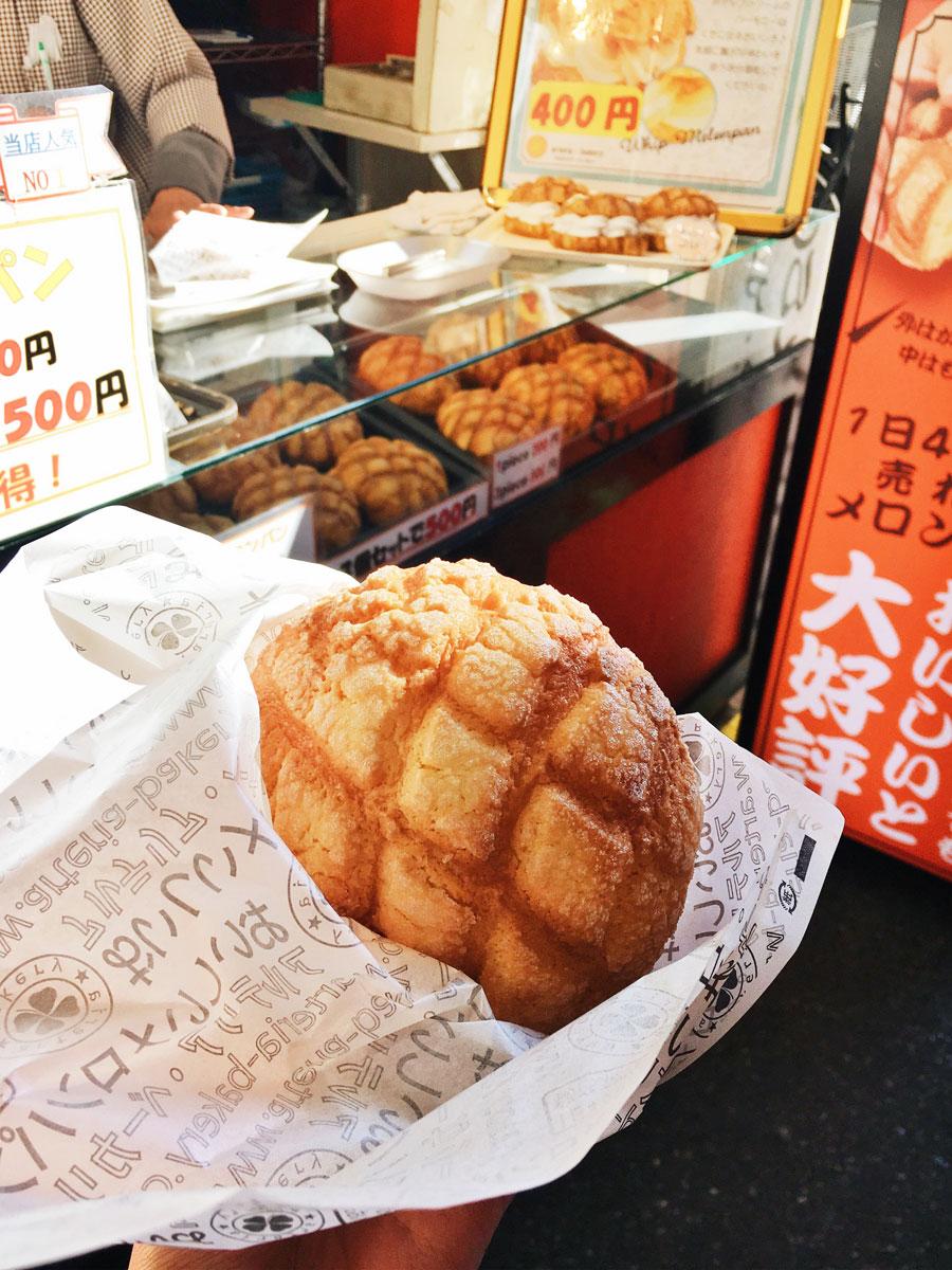 Asakusa melon bread street food Tokyo