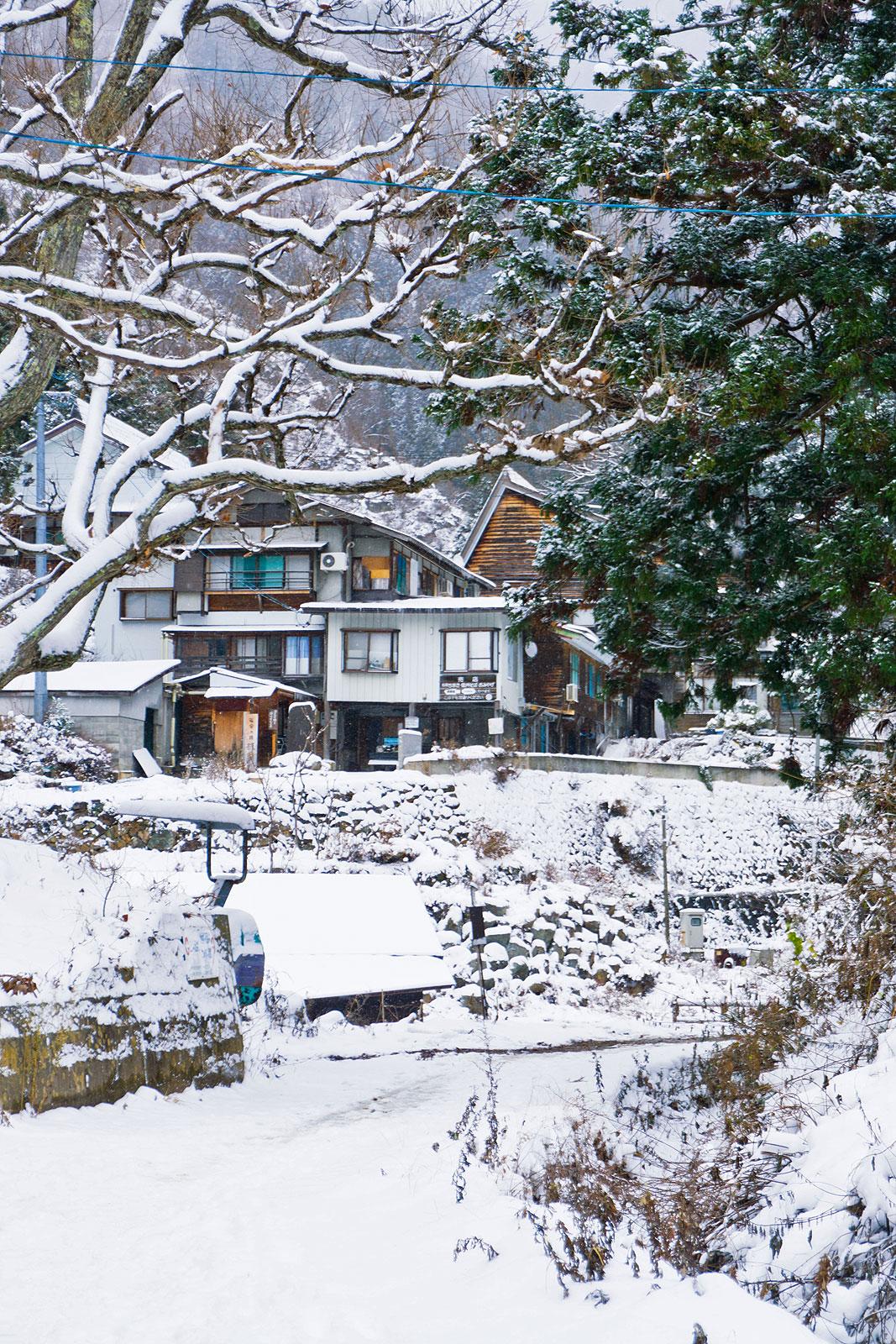 Nagano Japan snow mountains