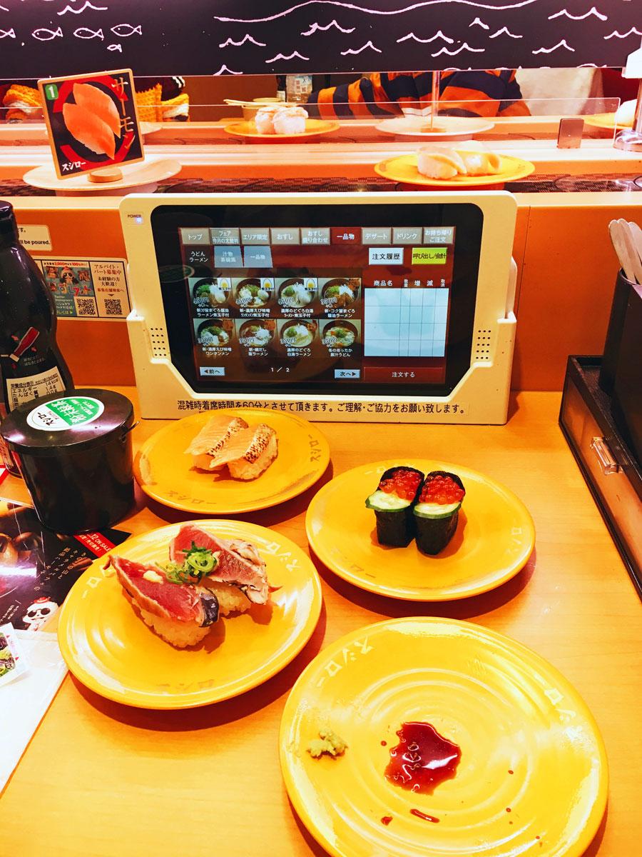 Sushiro kaitenzushi sushi train Tokyo